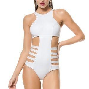 Vitamin A High Neck Cutouts Monokini swimsuit XS